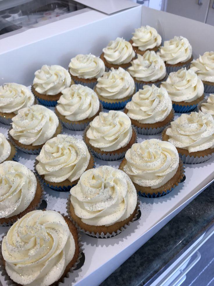 Silver Glitter Cupcakes