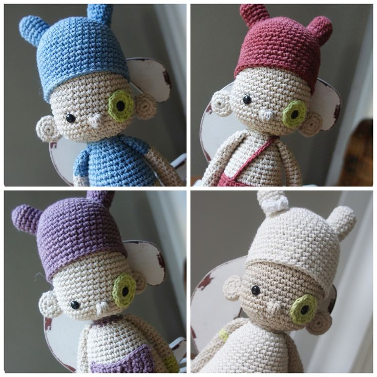 ༺༺༺♥Elles♥Heart♥Loves♥༺༺༺ ........♥Crochet Amigurumi♥........ #Amigurumi #Patterns #Crochet #Softies #Childrens #Toys #Handmade #Teddy #Doll #Tutorial #Patterns #Collectable~ ♥Beautiful Designs by Amour Fou Pattern The U.T.I.s