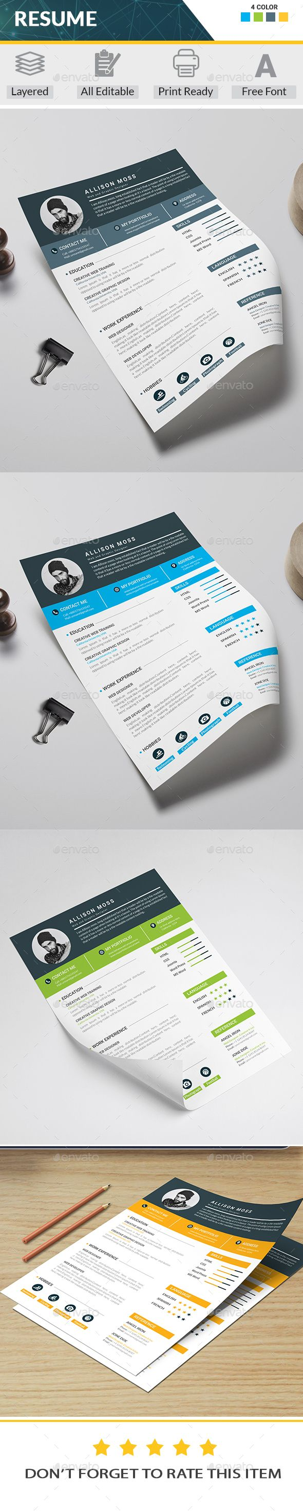 Buy Resume by on GraphicRiver Features Ai