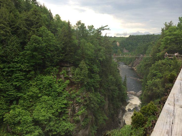 Bridges and waterfalls