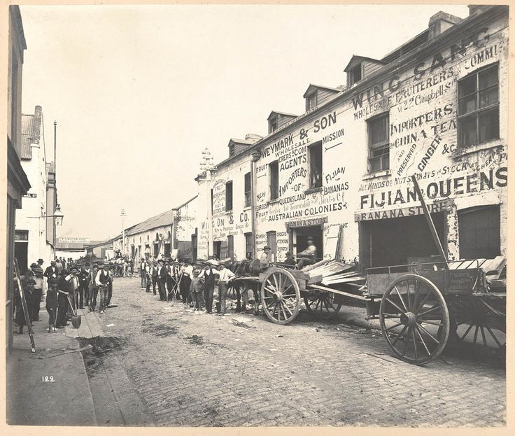 1900 - Bubonic Plague in Sydney. View of Barker Street taken during Cleansing Operations, Quarantine Area, Sydney