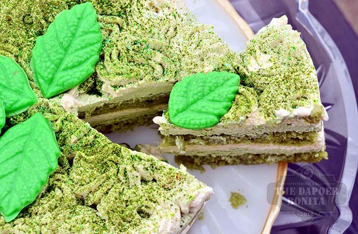 Greentea Tiramisu mousse cake by The Dapoer Bonita Jambi Indonesia