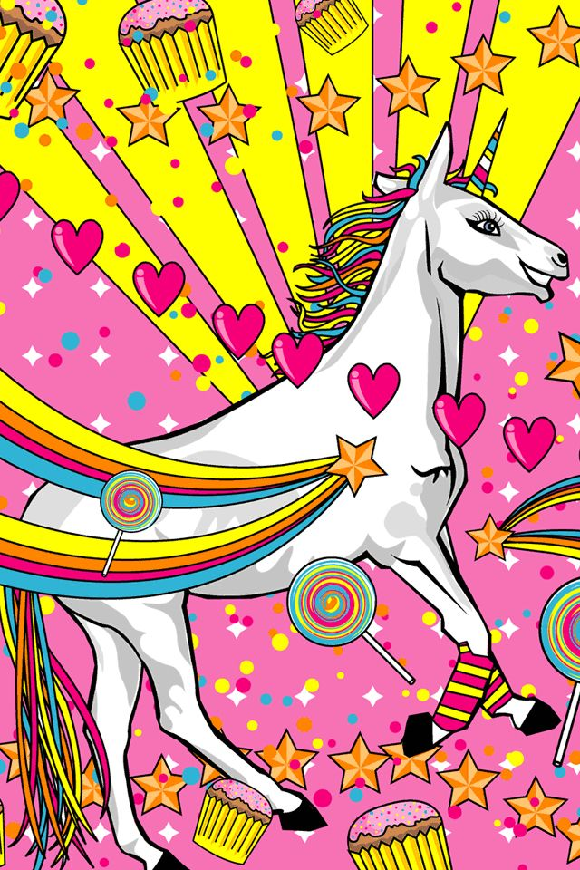 Girlie unicorn wallpaper for iPhone Phone Wallpapers