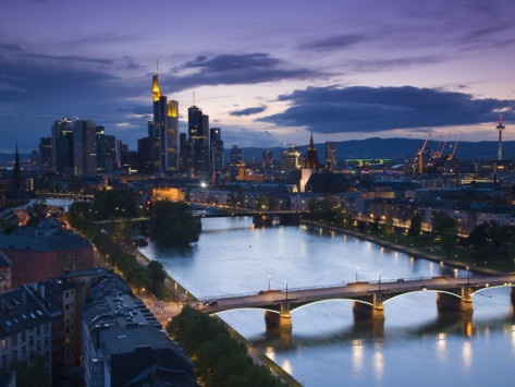Skyline, Frankfurt-Am-Main, Hessen, Germany