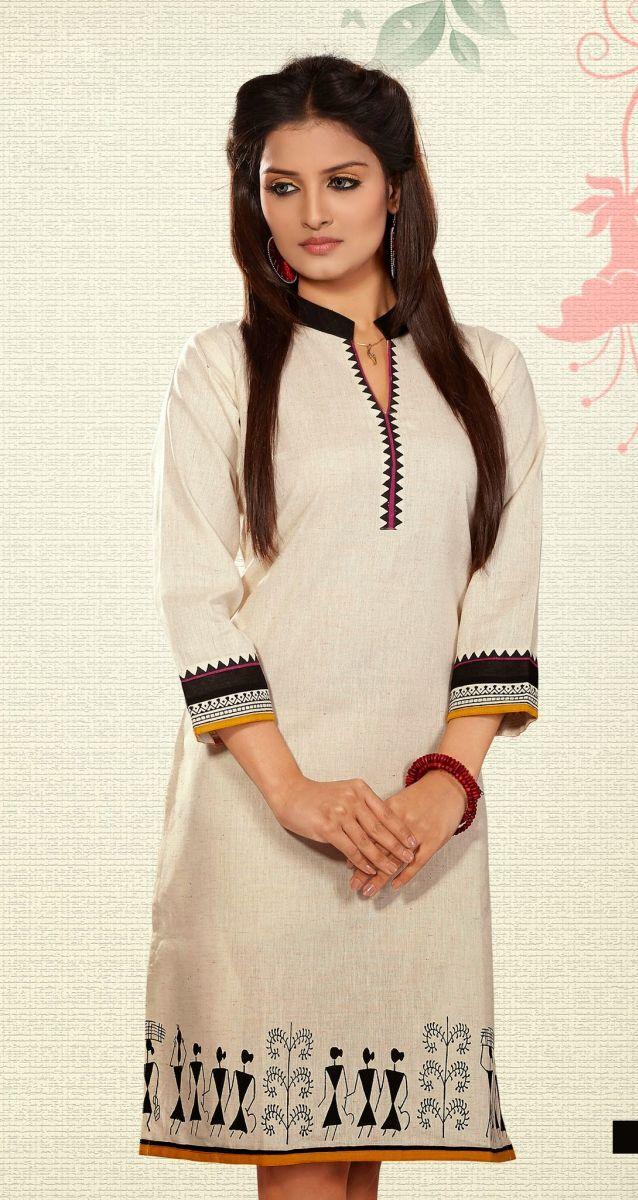 Latest Cotton Comfort Beautiful Indian #Kurti #craftshopsindia