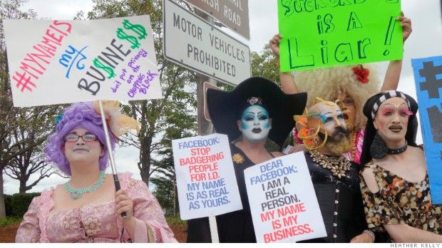 """Drag queens lead """"real names"""" protest at Facebook"""