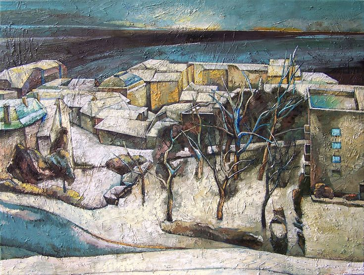 Papageorgiu Andrea  'Endless winter'  2013  Oil on canvas