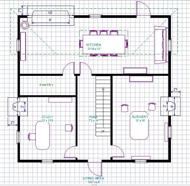 Outlander big house at Fraser's Ridge floor plan