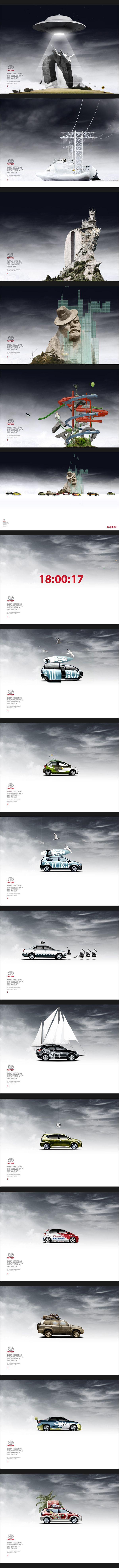 Toyota screensaver project by Alex Kudryavtsev, via Behance