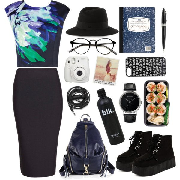 street style: let's go with the pencil skirt by srsstreetcouture on Polyvore featuring polyvore, fashion, style, Coast, Roland Mouret, Rebecca Minkoff, Georg Jensen, Maison Michel, Marc by Marc Jacobs, Urbanears and Pineider