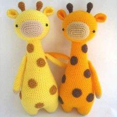 игрушка крючком жираф амигуруми