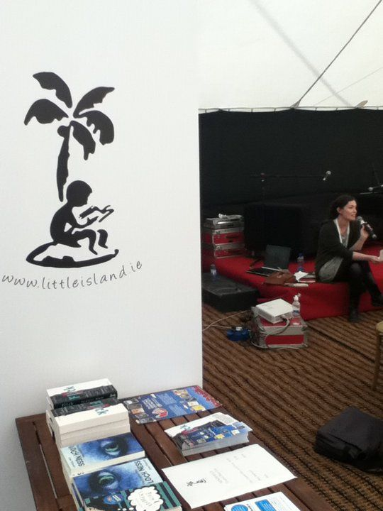 Deirdre Sullivan and the Little Island table at Mindfield Festival