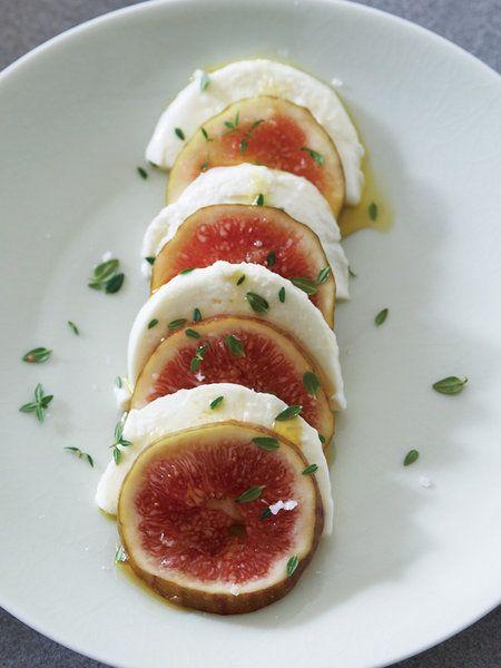 Recipe:いちじく×モッツァレッラ/モッツァレッラの淡白な味がジューシーな果肉と好相性 #レシピ
