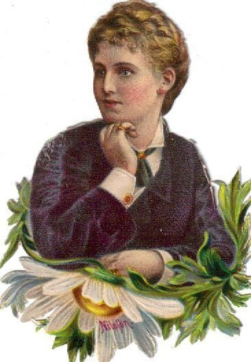 Victorian Die Cut Scrap Christina Nilsson Opera Singer c1880