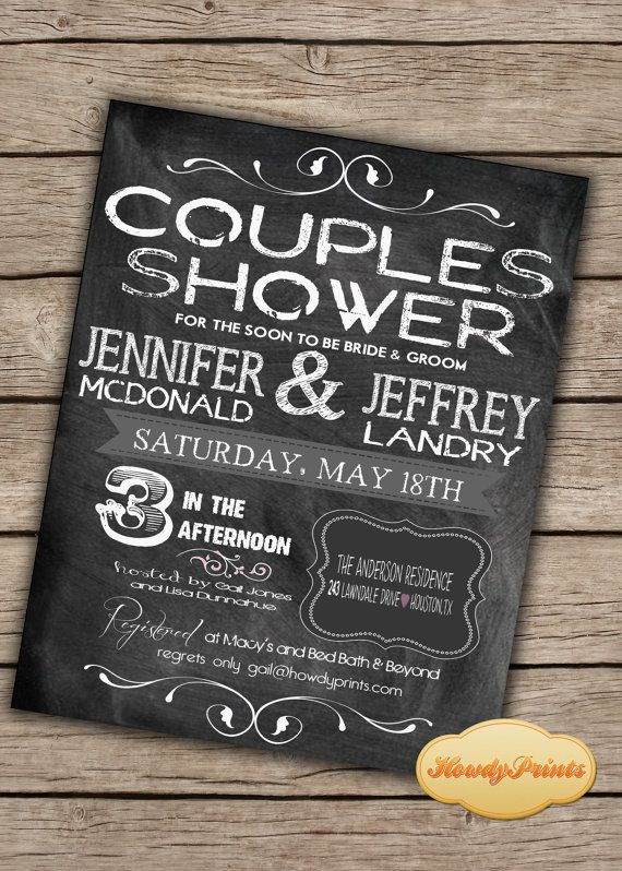 17 best ideas about couples wedding shower invitations on, Wedding invitations