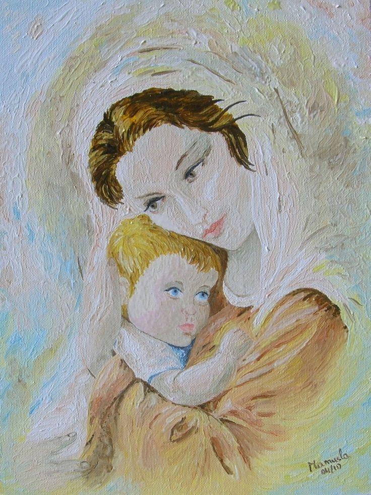 Madonna con bambino 25x35cm