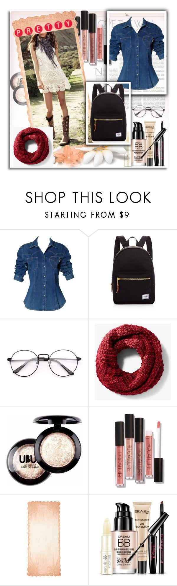 """..."" by alicejudo on Polyvore featuring mode, Moschino, Herschel Supply Co., Express et Faliero Sarti"