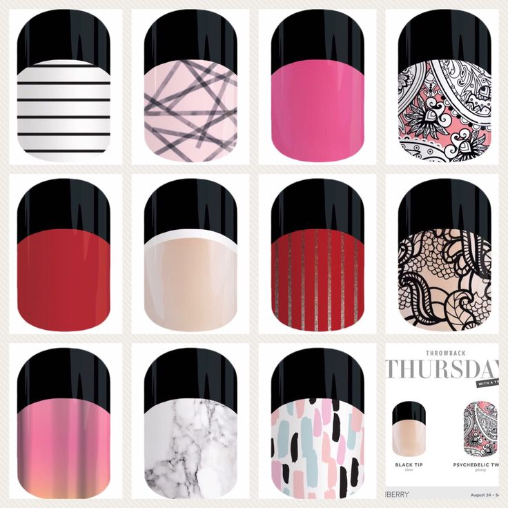 Which wraps would you pair with these black tips? #Jamberry #blacktipjn