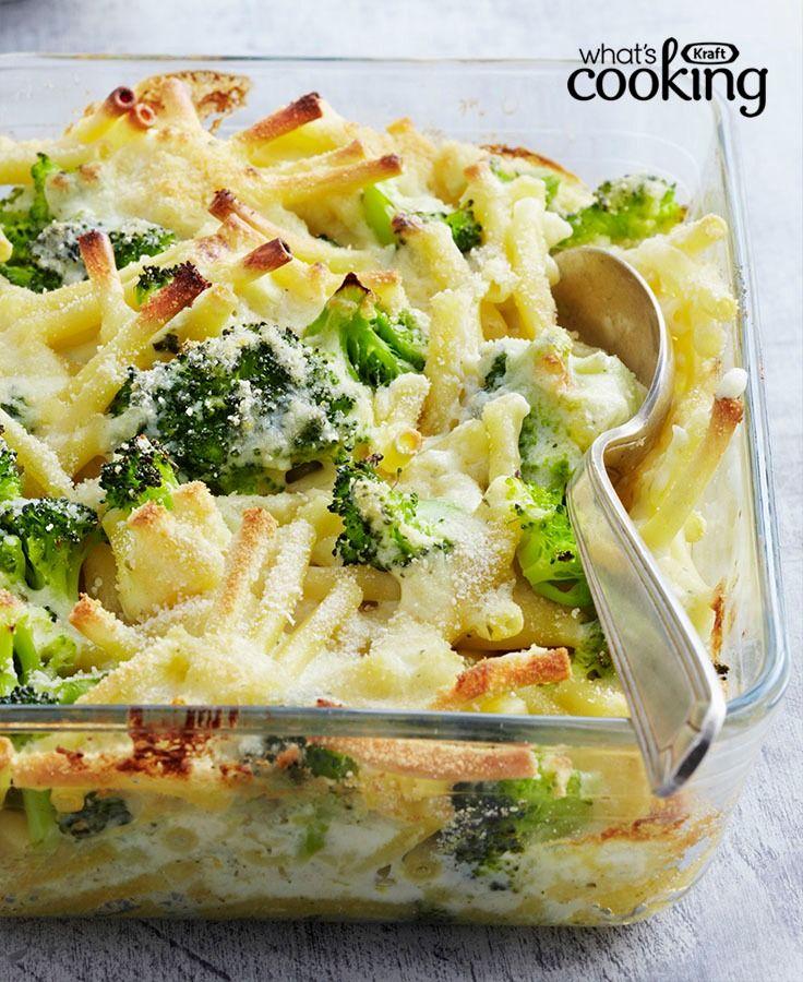 Cheesy Baked Pasta with Broccoli #recipe
