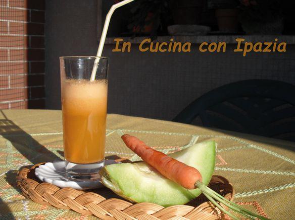 centrifugato melone carota e zenzero