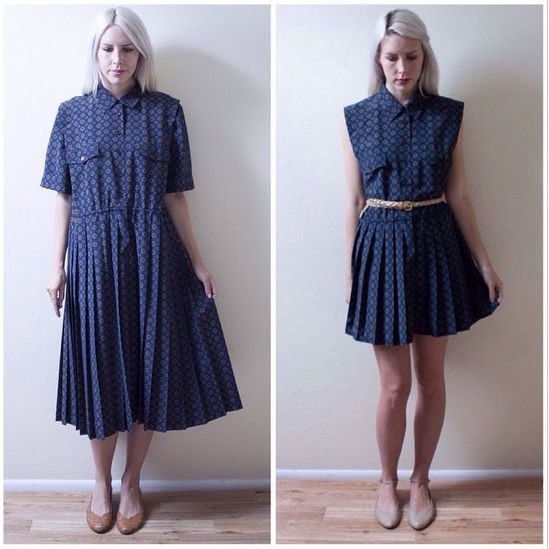 ⠀⠀Ladygirl Vintage remakes clothing found in thrift stores and sells them on Etsy.