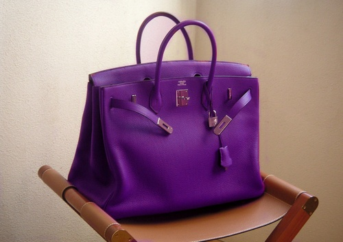 Purple Burkin Bag