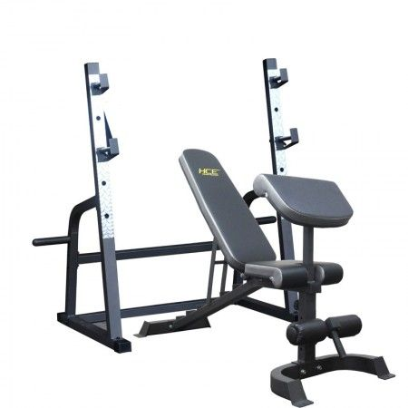 FID Bench Squat Rack Elite Fitness Equipment