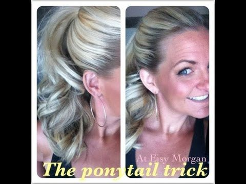 The Ponytail Trick -how to make your ponytail look longer and fuller