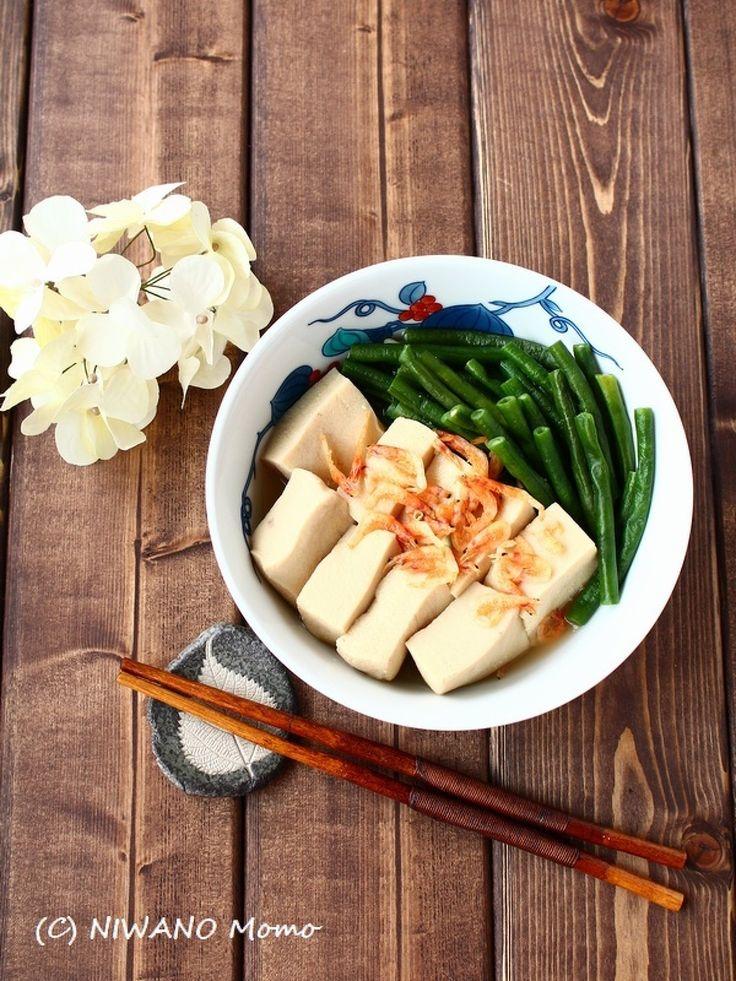 高野豆腐と十六ささげ(いんげん)の海老だし含め煮 by 庭乃桃 | レシピサイト「Nadia | ナディア」プロの料理を無料で検索