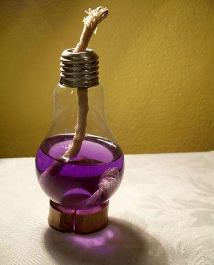 light bulb oil lantern #diy #craft