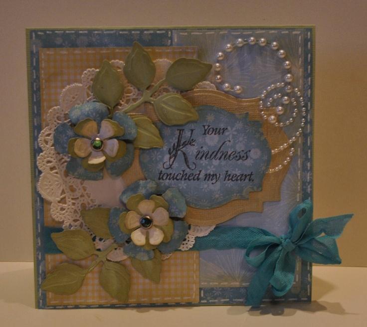 card using Spellbinder dies: Cards General, Beautiful Handmade, Handmade Cards, Spellbinders, Clever Crafts, Flower Cards, Card Inspiration