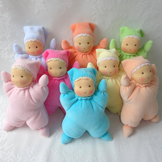 I love all the colours of these!! Waldorf butterfly doll by ElenaBelova on Etsy, $30.00
