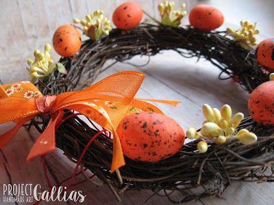 ProjectGallias: #projectgallias Handmade Easter wreath, Wielkanocny wianuszek, rękodzieło