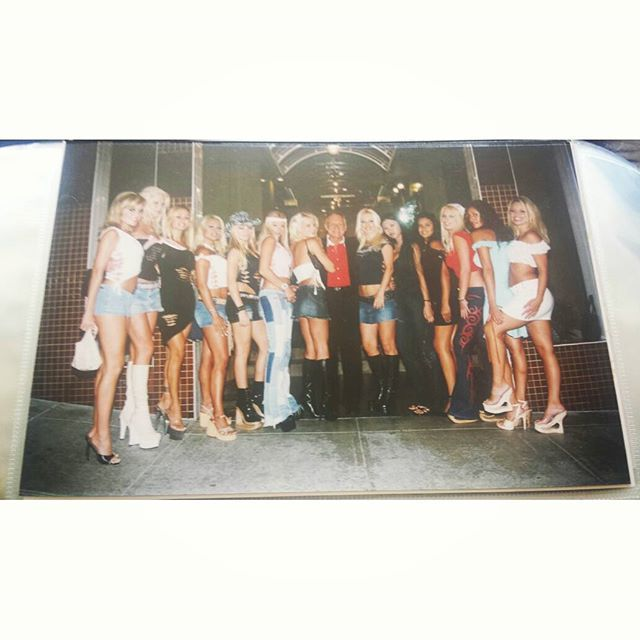 WEBSTA @ stacyburke_com - Can you find me??? Hint: tan.jean shorts #Playboy #Playmates #GirlFriends @hughhefner