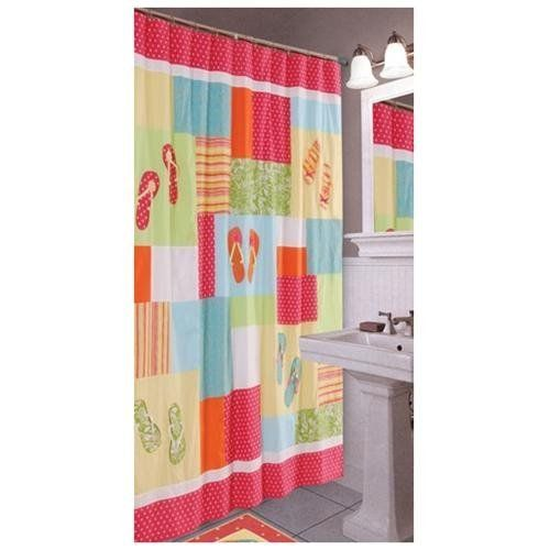 Flips Flops Beach Shower Curtain Curtainhomes