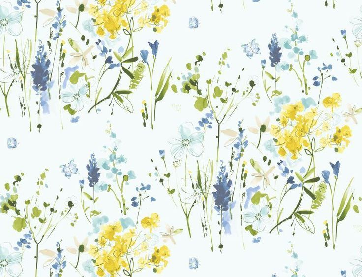 Blendworth Meadow Flowers MEADOWFL/004 Yellow  fabric from the Avania…