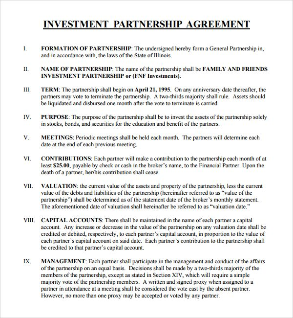 Investment Proposal Template Business Investment Investing Contract Template