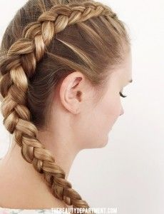 How to Do Dutch Braid on Curly Hair: Step by Step Tutorial...How to do Dutch braid on yourself...Steps on How to Do Dutch Braids...