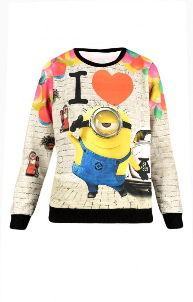 Γυναικεία μπλούζα i love minions | Μπλούζες - Μπλούζες και