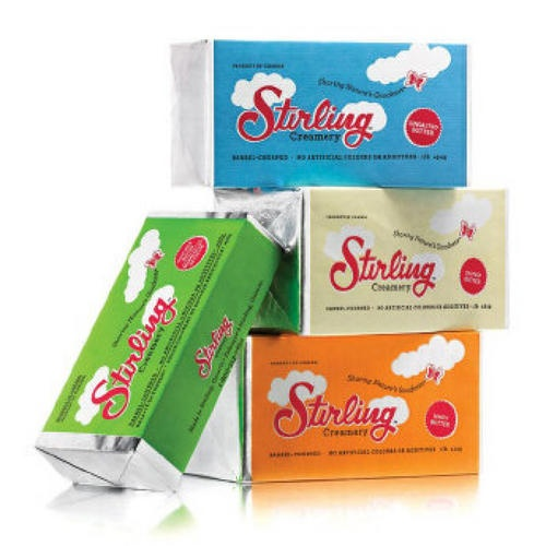 Stirling Creamery artisan butter made in Ontario: at $5.29 per pound, worth the splurge.