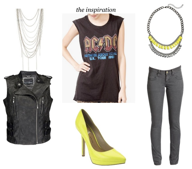 80s theme party outfit: AC/DC inspired