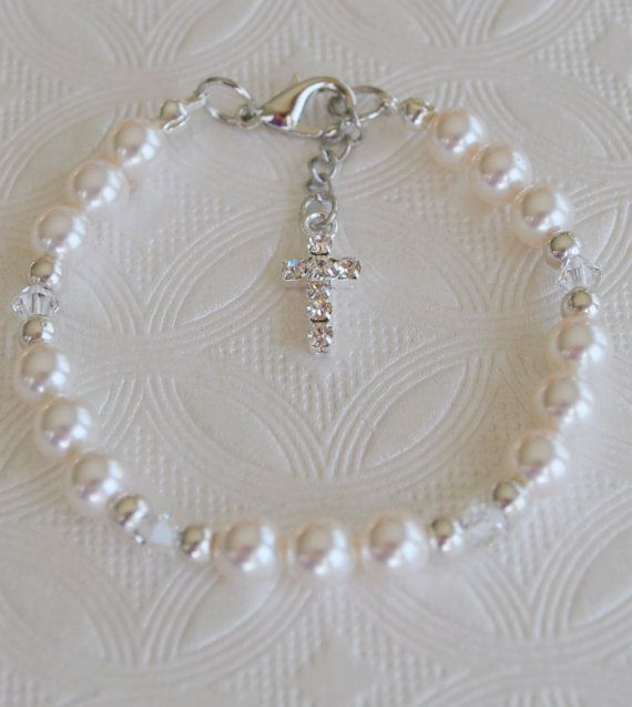 First Communion Bracelet/First Communion Rhinestone Jewelry/Gifts First Communion/Communion Birthstone/Pearl Communion/First Communion Gift