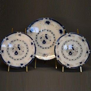 Three blue/white decorative plates - Decorative Collective