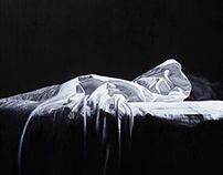 Bed (Madrid), 2015, 80 × 80 cm, oil on canvas