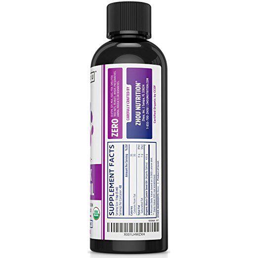 Zhou Nutrition, Black Seed Oil - 100% Virgin - 8 Ounces Certified Organic Black Seed Oil - 100% Virgin, Cold Pressed Source of Omega 3 6 9 - Nigella Sativa Black Cumin - Super Antioxidant for Immune Support, Joints, Digestion, Hair & Skin. http://www.pickvitamin.com/zhou-nutrition-black-seed-oil-100-virgin-8-ounces.html