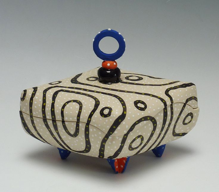 Blackline Diamond Pillow Box by Vaughan Nelson (Ceramic Box) | Artful Home