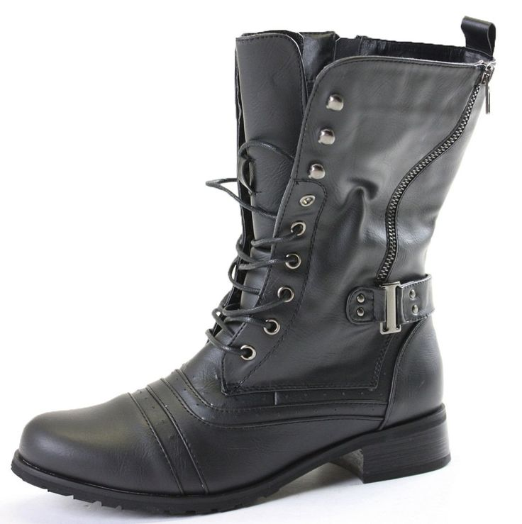 shoefashionista bottes lacets femme militaire vintage chaussures plates bottines lacets. Black Bedroom Furniture Sets. Home Design Ideas