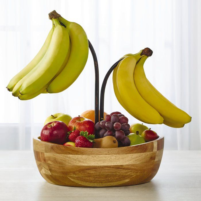 Vienna Fruit Bowl With Double Banana Hook Gourmet Basics By Mikasa Fruit Holder Fruit Bowl