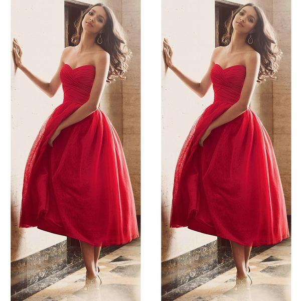 Red Short Prom Dresses pst0354