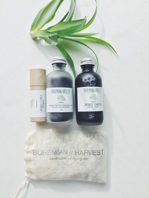 GIFT SET // organic face wash organic face mask by bohemianharvest. Really want to try these products